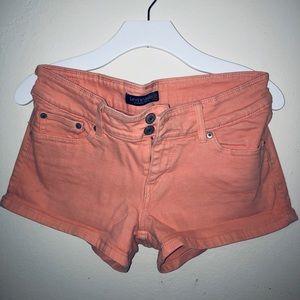 Levi's denim orange shorts